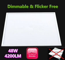 DEL Dimmable Panel Light 48 W 600x600 Slim plafonnier blanc froid, FLICKER FREE