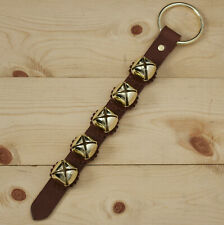 Arctic Sleigh Bell Leather Strap Hanging Door Chimes / Handmade in Usa_Cho/Gd