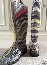 Just Cavalli Multicolor Zebra Print Botas De Lluvia 36
