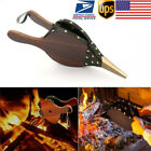 Vintage Fireplace Blower Traditional Stove Fire Lighter Fan Bellows Tool BBQ US