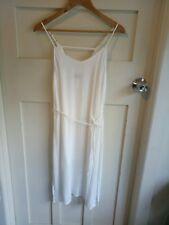 Dotti Women's Dress White Size 10 Spaghetti Strap Summer Beach Boho