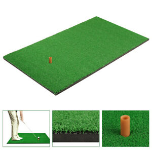 10mm Golf Practice Grass Mat Backyard Training Hitting Pad Indoor Outdoor W/ Tee