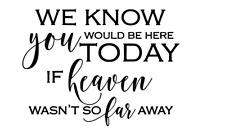 Heaven so Far Away Memorial Quote VINYL DECAL STICKER IKEA RIBBA BOX FRAME GIFT