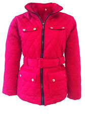 NEW WOMENS LADIES PLUS SIZE QUILTED PADDED BUTTON ZIP JACKET COAT TOP SIZE 12-26