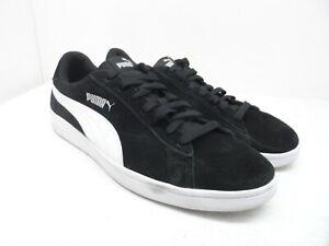 PUMA Men's Smash v2 Athletic Casual Shoes Black/White Size 12M