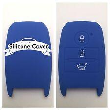BLUE SILICONE CAR SMART KEY COVER CASE CERATO K3 RIO OPTIMA SPORTAGE FOR KIA
