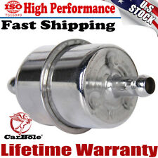 """New Chrome Plated Fuel Filter for 3/8"""" ID Hose Inline Car Auto Parts Fuel System"""