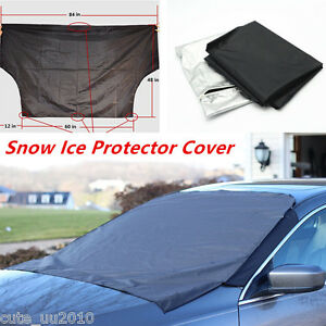 Car Truck SUV Front Windshield Window Snow Ice Frost & Sun Shade Protector Cover