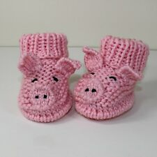 PRINTED KNITTING INSTRUCTIONS-TODDLER PIGGY BOOTS KNITTING PATTERN FARM ANIMAL