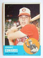 Johnny Edwards #178 Topps 1963 Baseball Card (Cincinnati Reds) VG