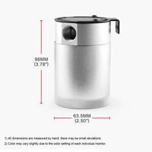 Car Oil Catch Tank 3-Port Reservoir Air-Oil Separator Aluminum 2 Fluid Ounces