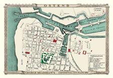 George Bradshaw'S CONTINENTAL Piano della città di Ostenda 1896 - 1000 Pezzo Puzzle