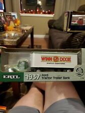 (1) New ERTL Winn Dixie 1937 Ford Tractor Trailer Die-cast 1/43 BANK