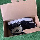 Vans Slip-On Black/White Canvas Classic Shoes Mens Size 9 Womens 10.5