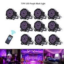 10PCS 72W LED Purple Light Par Can Stage Light DMX Bar DJ Party Light