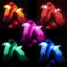 2 LED Light Up Shoelaces glowing Laces 3 Modes Strap Party Flashing   Shoelace