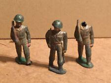 "Vintage BARCLAY Metal SET Of (3) Infantry Figures Painted 3"""