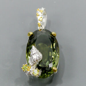 30 ct Top green AAA Green Amethyst Pendant Silver 925 Sterling  /NP14849