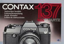 Instruction User's Manual Contax 137 MA Quartz Multilingual