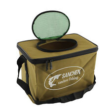 WaterProof Foldable Fabric Portable Fish Bucket Water Pail for Fishing S Size*