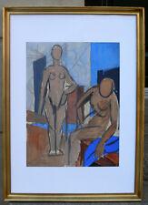 Benny Cohn ( Danish/ American.1896) Studio interior with female nudes. 1940s,
