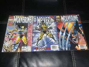 Wolverine #85, #100 & #145 Newsstand Editions