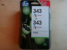 HP 343 TWIN Pack - ORIGINALS - BOXED AND SEALED - FREE SHIPPING