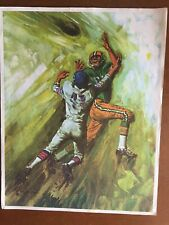 Vintage 1966 Green Bay Packers In Action Mobil Art Prints--  The Catch