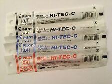 PILOT HI-TEC-C GEL PEN REFILL 0.4mm (2B,2L,1R)