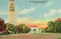 The Mall University of Michigan Ann Arbor MI Stofflet News Company 1941 Postcard