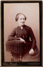 CDV Foto Feine Dame - Wittenberg um 1890