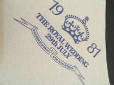 The Royal Wedding 29th July 1981- Table Napkin