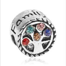 hot European Silver CZ Charm Beads Fit sterling 925 Necklace Bracelet Chain fc19