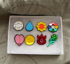 Pokemon Kanto Region 8 Piece Gym Leader Badge Set - Cosplay Costume Prop