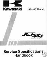1998-2000 KAWASAKI JET SKI  SERVICE SPEC MANUAL NEW