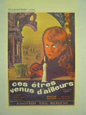 Belgian Movie Poster: Ces Etres Venus d'Ailleurs CHILDREN OF THE DAMNED 1964