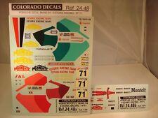 """DECALS 1/24 PORSCHE GT2 - #71 - """"ESTORIL RACING"""" LM 1998 - COLORADO  2448"""