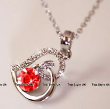 Ruby Love Necklace Birthday Gifts for Her Wife Girlfriend Sister Daughter J238B