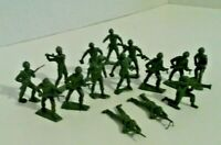 Vintage Army men, green, lot of 15