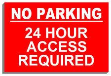 Glass No Parking Decorative Plaques & Signs
