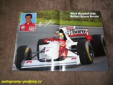 Mark BLUNDELL (McLaren /1995/) - Marlboro poster 2xA4 Format