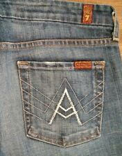 7 Seven For All Mankind Women's A Pocket Boot Cut Jeans Nice! Size 32 X 35