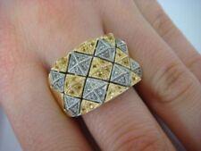 Anelli con diamanti tondi colore fantasia Zaffiro