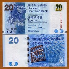 Hong Kong, $20, 2016, SCB, P-297-New, UNC > Magic Carp