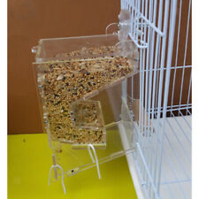 Acrylic Pet Parrot Birds Automatic Cage Feeder Food Container Double Hopper