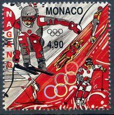 TIMBRE MONACO N° 2143 ** SPORT / JO D'HIVER DE NAGANO / LUGE /  ETC...