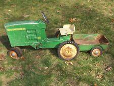 Vintage Original ERTL John Deere 20 Pedal Tractor Model D-65 w/ Trailer