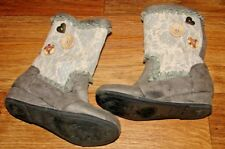 NAARTJIE KIDS TODDLER/LITTLE GIRLS SIZE 10 GORGEOUS GRAY RUFFLED BUTTON BOOTS