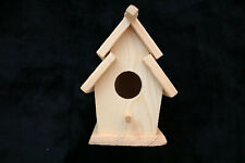 Bird House Mini Ready To Paint Finish Barrel Roof Decorative Nicole Crafts Nwt