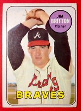1969 VINTAGE  Atlanta Braves  Jim Britton  Topps #154  Baseball Card  Near Mint+